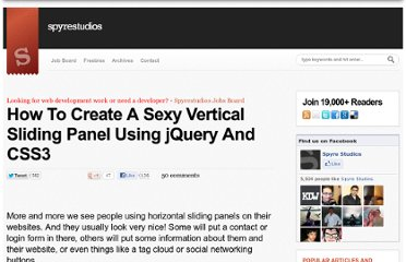 http://spyrestudios.com/how-to-create-a-sexy-vertical-sliding-panel-using-jquery-and-css3/
