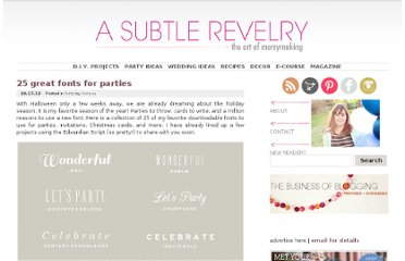 http://asubtlerevelry.com/25-great-fonts-for-parties