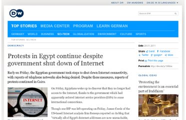 http://www.dw.de/protests-in-egypt-continue-despite-government-shut-down-of-internet/a-14801752-1