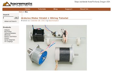 http://hacromatic.com/blog/2012/10/arduino-motor-shield-tutorial/
