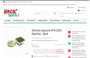 http://hackspark.fr/fr/20mm-square-8-8-led-matrix-red.html