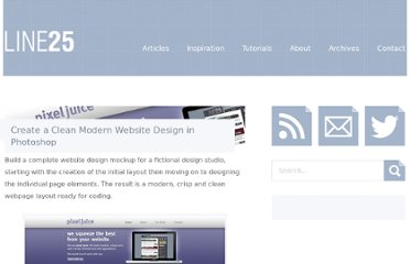 http://line25.com/tutorials/create-a-clean-modern-website-design-in-photoshop