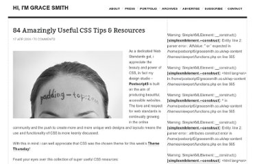 http://www.gracesmith.co.uk/84-amazingly-useful-css-tips-resources/
