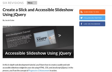 http://sixrevisions.com/tutorials/javascript_tutorial/create-a-slick-and-accessible-slideshow-using-jquery/