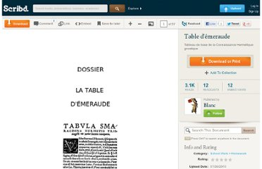 http://fr.scribd.com/doc/34900351/Table-d-emeraude