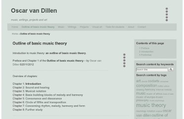 http://www.oscarvandillen.com/outline_of_basic_music_theory/