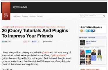 http://spyrestudios.com/jquery-tutorials-plugins-impress-your-friends/