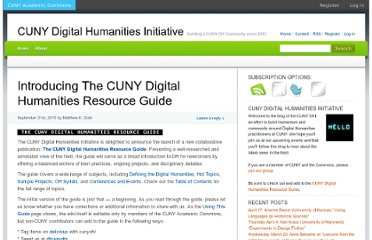 http://cunydhi.commons.gc.cuny.edu/2010/09/21/introducing-the-cuny-digital-humanities-resource-guide/