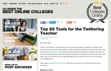 http://www.bestcollegesonline.com/blog/2009/04/02/top-100-tools-for-the-twittering-teacher/