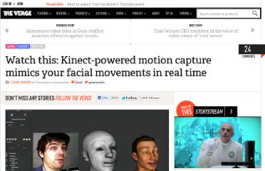 http://www.theverge.com/2012/11/17/3658966/watch-this-faceshift-motion-capture-kinect