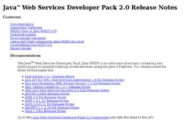 http://docs.oracle.com/cd/E17802_01/webservices/webservices/docs/2.0/ReleaseNotes.html