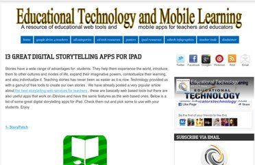 http://www.educatorstechnology.com/2012/11/13-great-digital-storytelling-apps-for.html