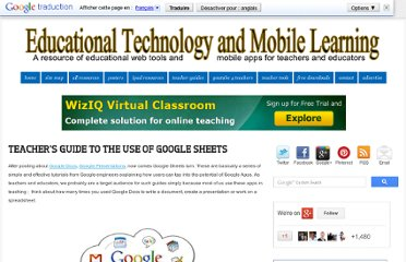 http://www.educatorstechnology.com/2012/11/teachers-guide-to-use-of-google-sheets.html