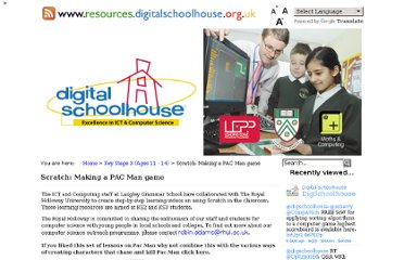 http://www.resources.digitalschoolhouse.org.uk/key-stage-3-ages-11-14/142-scratch-lessons-free