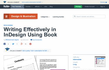 http://vector.tutsplus.com/tutorials/designing/writing-effectively-in-indesign-using-book/