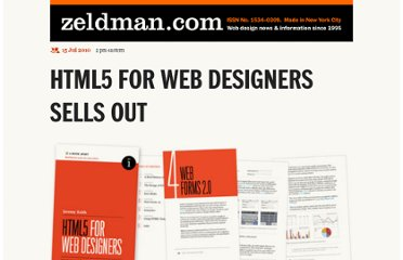 http://www.zeldman.com/2010/07/15/html5-for-web-designers-sells-out/