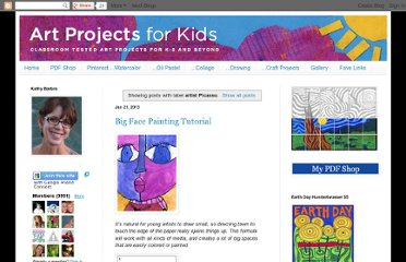 http://www.artprojectsforkids.org/search/label/artist%20Picasso