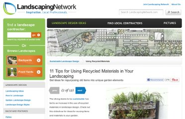 http://www.landscapingnetwork.com/landscape-design/sustainable/recycled-materials.html