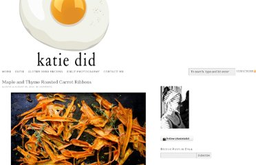 http://www.katiekdid.com/2012/08/28/maple-and-thyme-roasted-carrot-ribbons/