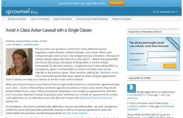 http://blog.upcounsel.com/startups-can-avoid-a-class-action-lawsuit-with-a-single-clause/