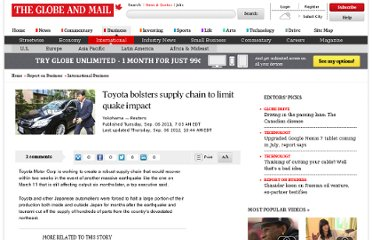 http://www.theglobeandmail.com/report-on-business/international-business/toyota-bolsters-supply-chain-to-limit-quake-impact/article593243/