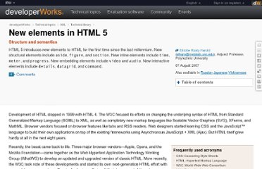 http://www.ibm.com/developerworks/library/x-html5/