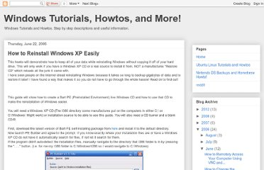 http://winhowto.blogspot.com/2006/06/how-to-reinstall-windows-xp-easily_22.html