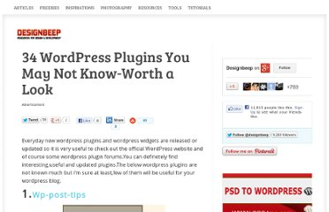 http://designbeep.com/2010/06/21/34-wordpress-plugins-you-may-not-know-worth-a-look/