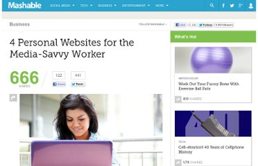 http://mashable.com/2012/11/21/personal-websites/
