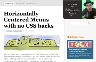 http://matthewjamestaylor.com/blog/beautiful-css-centered-menus-no-hacks-full-cross-browser-support