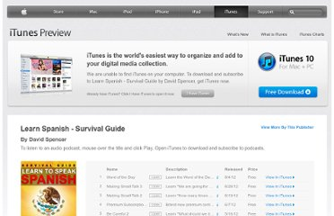 https://itunes.apple.com/us/podcast/learn-spanish-survival-guide/id170271930