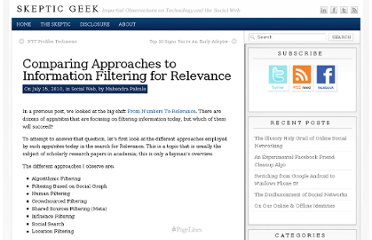 http://www.skepticgeek.com/socialweb/comparing-approaches-to-information-filtering-for-relevance/