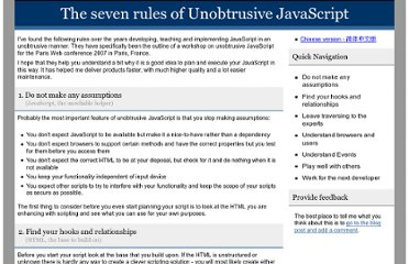 http://icant.co.uk/articles/seven-rules-of-unobtrusive-javascript/