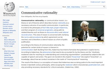 http://en.wikipedia.org/wiki/Communicative_rationality