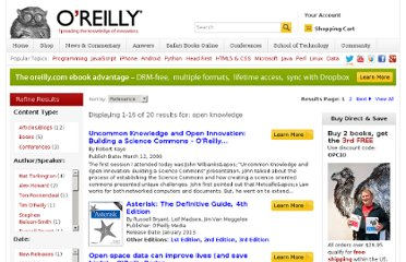 http://search.oreilly.com/?q=open+knowledge