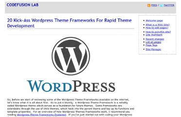 http://codefusionlab.blogspot.com/2009/07/20-kick-ass-wordpress-theme-frameworks.html