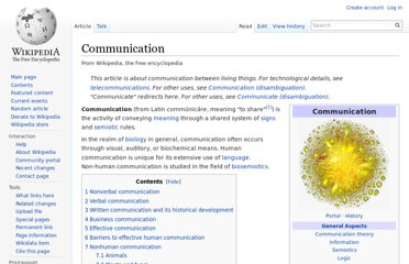 http://en.wikipedia.org/wiki/Communication