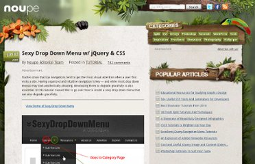 http://www.noupe.com/tutorial/drop-down-menu-jquery-css.html