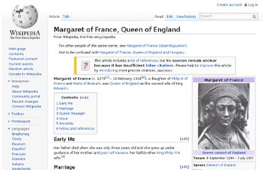 http://en.wikipedia.org/wiki/Margaret_of_France,_Queen_of_England