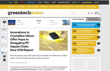 http://www.greentechmedia.com/articles/read/Innovations-in-Solar-Silicon-Offer-Hope-to-Struggling-PV-Supply-Chain-New