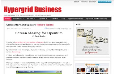http://www.hypergridbusiness.com/2012/11/screen-sharing-for-opensim/