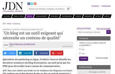 http://www.journaldunet.com/ebusiness/crm-marketing/frederic-canevet-interview-frederic-canevet-conseilsmarketing-fr.shtml