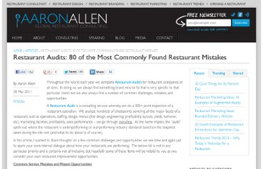 http://aaronallen.com/articles/restaurant-audits-80-of-the-most-commonly-found-mistakes/
