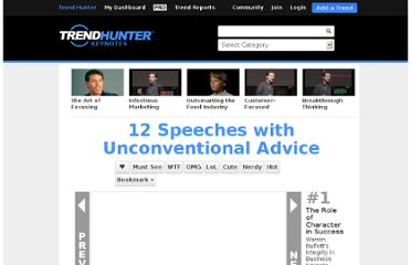 http://www.trendhunter.com/course/uncoventional-advice#1
