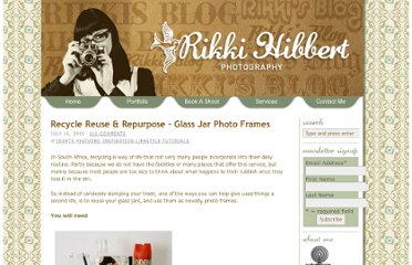 http://www.rikkihibbert.co.za/2010/07/16/recycle-reuse-repurpose-glass-jar-photo-frames/