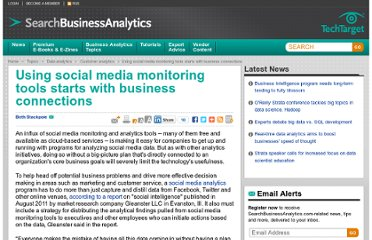 http://searchbusinessanalytics.techtarget.com/feature/Using-social-media-monitoring-tools-starts-with-business-connections