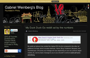 http://www.gabrielweinberg.com/blog/2010/03/my-duck-duck-go-reddit-ad-by-the-numbers.html