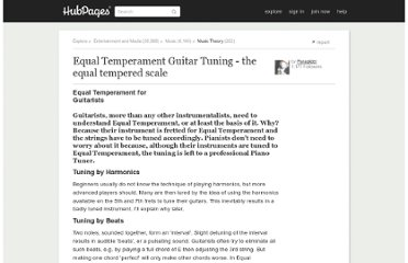 http://paraglider.hubpages.com/hub/Equal-Temperament-Guitar-Tuning