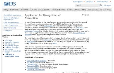 http://www.irs.gov/Charities-&-Non-Profits/Application-for-Recognition-of-Exemption-1