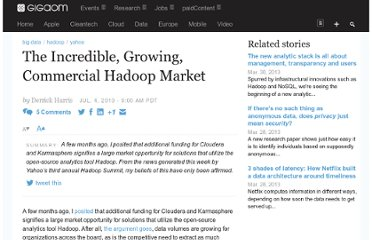 http://gigaom.com/2010/07/04/the-incredible-growing-commercial-hadoop-market/